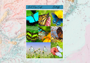US RTS Butterfly Deluxe kit | Standard Vertical Planner Stickers