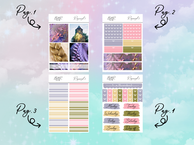 Rapunzel 2 PP Weeks kit | EC Planner Stickers