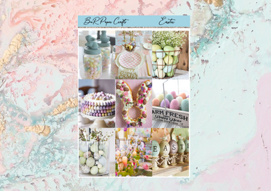 Easter Deluxe kit | Standard Vertical Planner Stickers