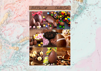Chocolate Easter Deluxe kit | Standard Vertical Planner Stickers