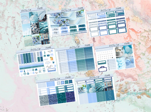 Pastel Blue Deluxe kit | Standard Vertical Planner Stickers