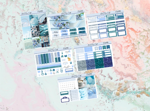 Pastel Blue Mini kit | Standard Vertical Planner Stickers