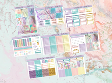 Load image into Gallery viewer, Rainbow unicorn Deluxe kit | Standard Vertical Planner Stickers