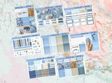 Load image into Gallery viewer, Blue Puff Deluxe kit | Standard Vertical Planner Stickers