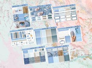 Blue Puff Deluxe kit | Standard Vertical Planner Stickers