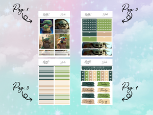 Yoda PP Weeks kit | EC Planner Stickers