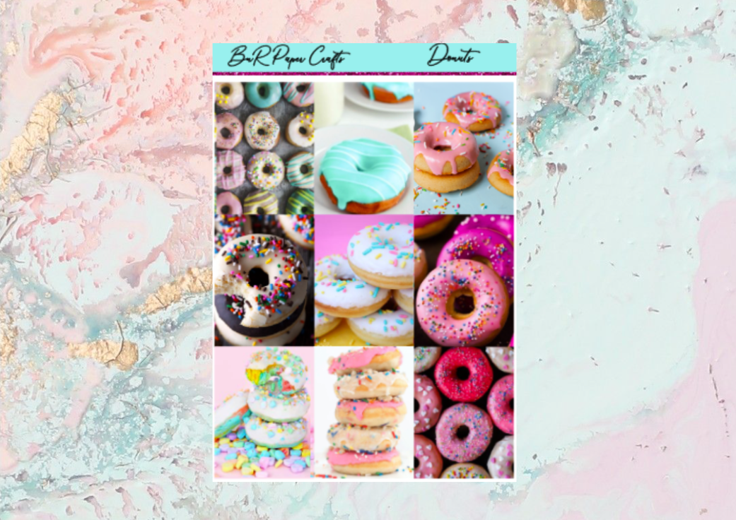 Donuts Mini kit | Standard Vertical Planner Stickers
