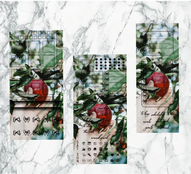 Snow apple pic hobonichi kit | Foil Planner Stickers