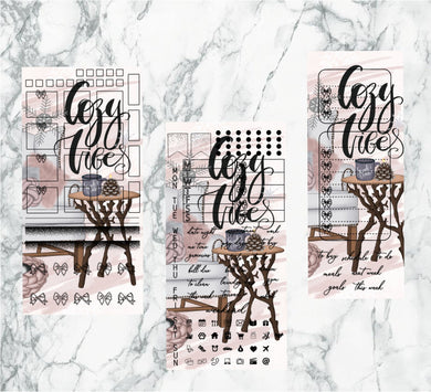 Cozy Vibes hobonichi kit | Foil Planner Stickers