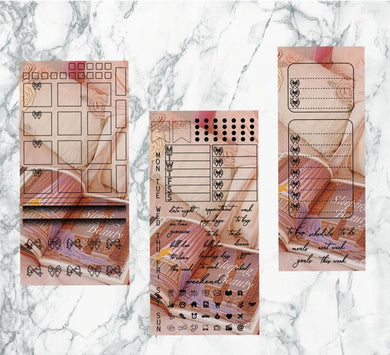 Sleeping Beauty hobonichi kit | Foil Planner Stickers