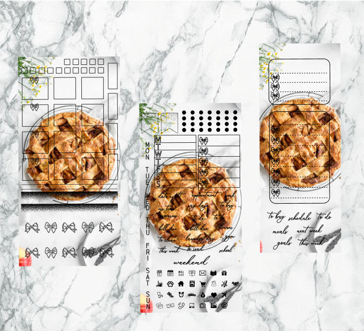 Apple Pie hobonichi kit | Foil Planner Stickers