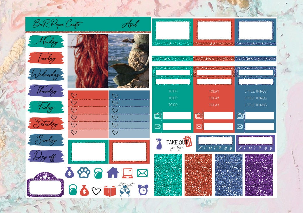 Ariel Micro kit | Standard Vertical Planner Stickers