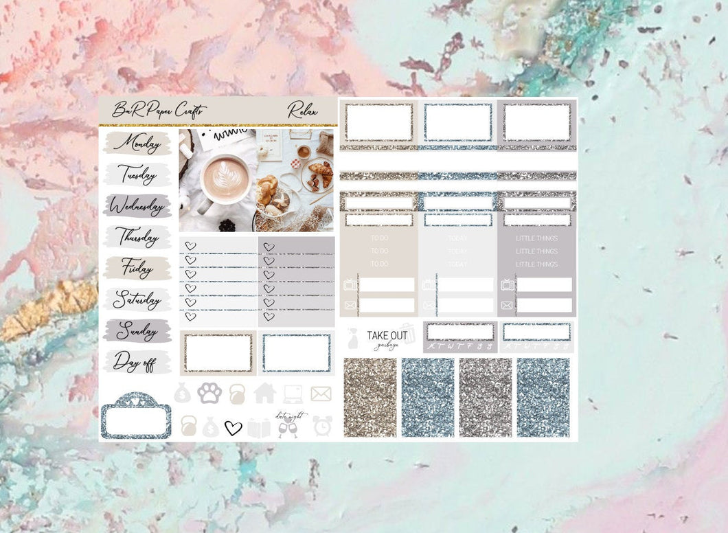 Relax Micro kit | EC Planner Stickers
