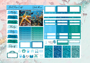 Under the sea Micro kit | EC Planner Stickers