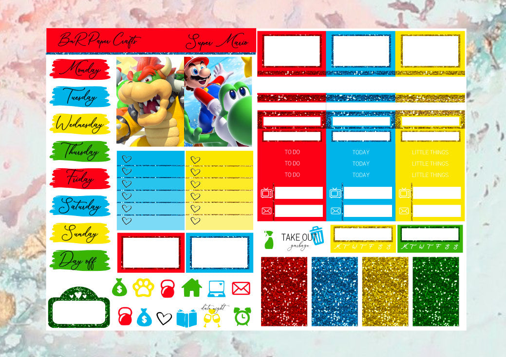 Super Mario Micro kit | EC Planner Stickers