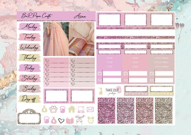 Aurora Micro kit | Standard Vertical Planner Stickers
