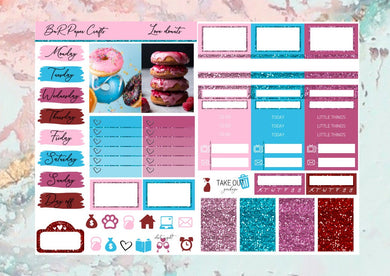 Love Donuts Micro kit | EC Planner Stickers