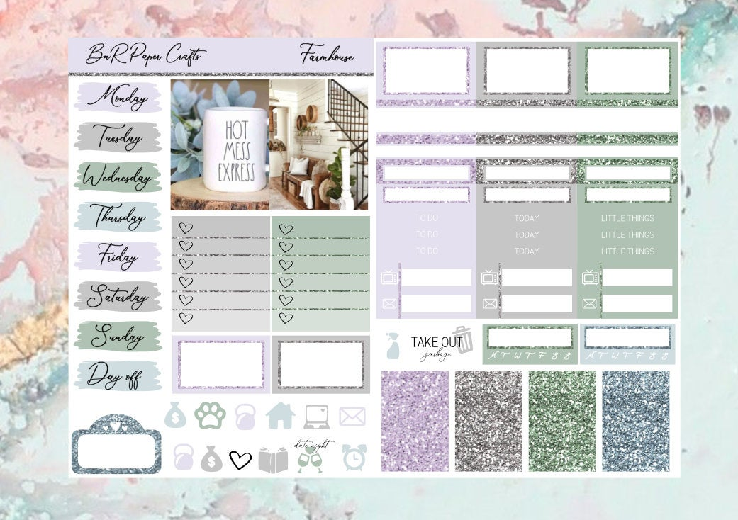 Farmhouse Micro kit | EC Planner Stickers