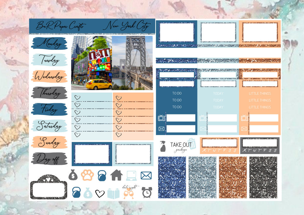New York City Micro kit | EC Planner Stickers