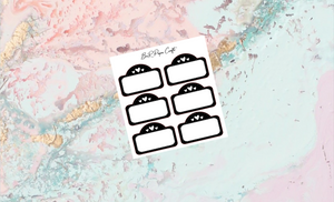Movie marquee foiled | Foil Planner Stickers | EC Planner Stickers