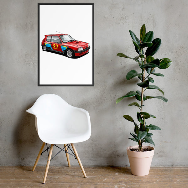 Rally Car drawing Service Peugeot 205 Rallye hand drawn Bespoke car drawing service Red rally  Auto Prints framed Rally clipart doodle Race car hand drawing service
