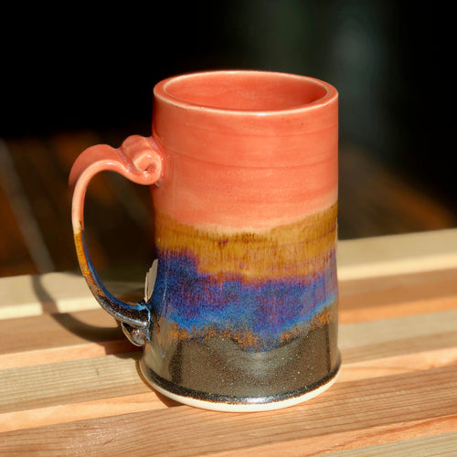 The Iced Coffee Lovers Mug (Dusk to Dawn) - Kiln Fired by Kelly Handmade Mug