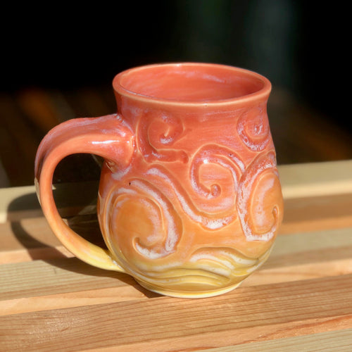 Sherbet Van Gogh (3)- Kiln Fired by Kelly Handmade Mug