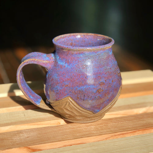 Moody Night Mountains (1)- Kiln Fired by Kelly Handmade Mountain Mug