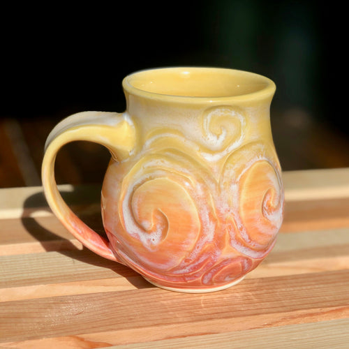 Sherbet Van Gogh (4)- Kiln Fired by Kelly Handmade Mug