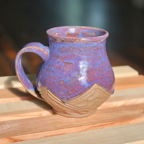 Moody Night Mountains (2)- Kiln Fired by Kelly Handmade Mountain Mug
