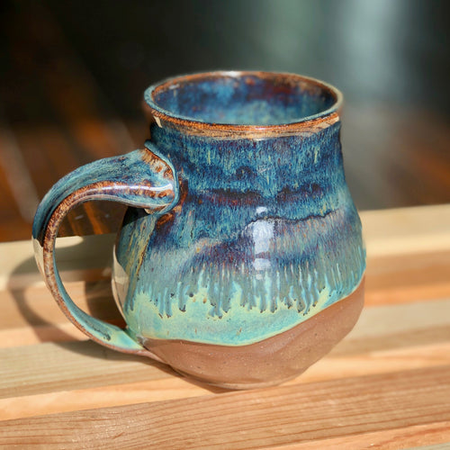 Shoreline (1) - Kiln Fired by Kelly Handmade Mug