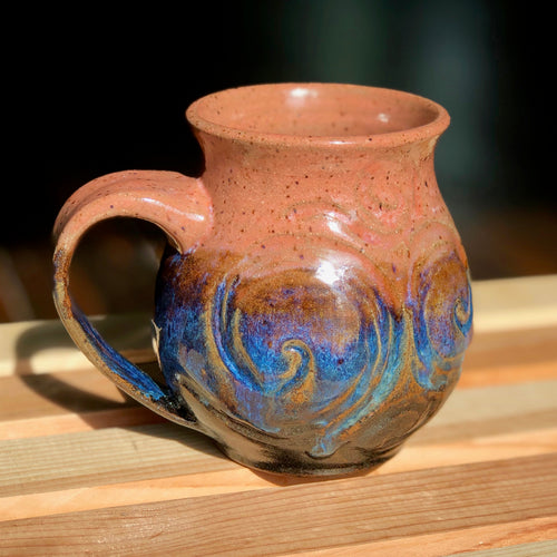 Dusk to Dawn Van Gogh- Kiln Fired by Kelly Handmade Mug