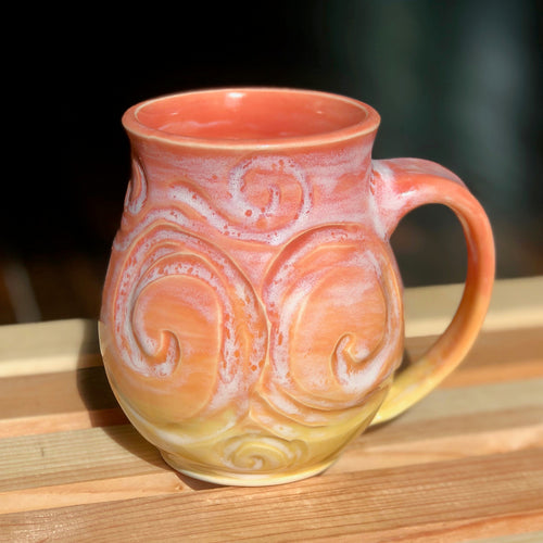 Sherbet Van Gogh (1)- Kiln Fired by Kelly Handmade Mug