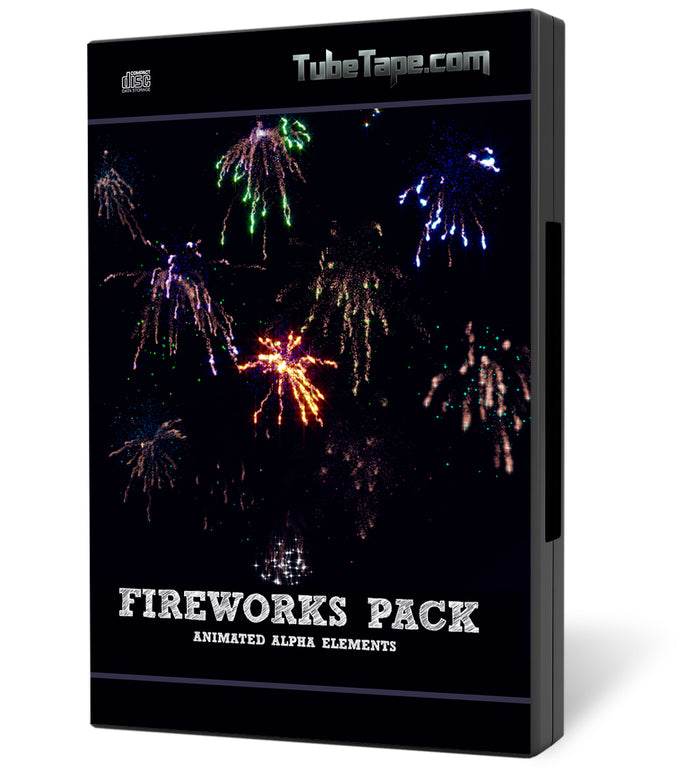 Fireworks Pack - Individual pre-keyed Firework video elements