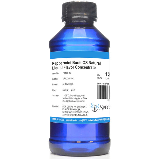 Peppermint Burst OS Natural Liquid Flavor Concentrate