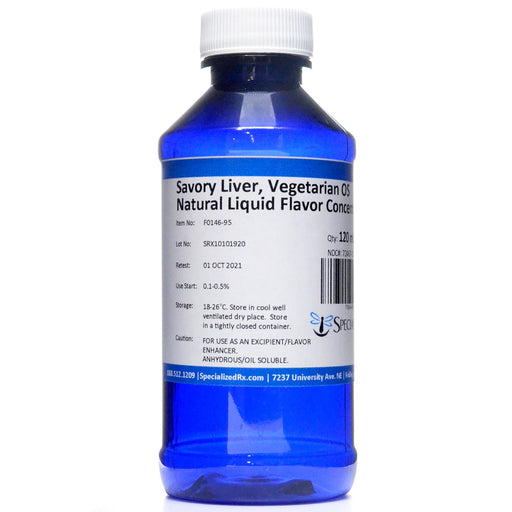 Savory Liver, Vegetarian OS Natural Liquid Flavor Concentrate (Vet)