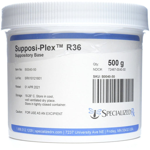 Supposi-Plex™ R36 Suppository Base