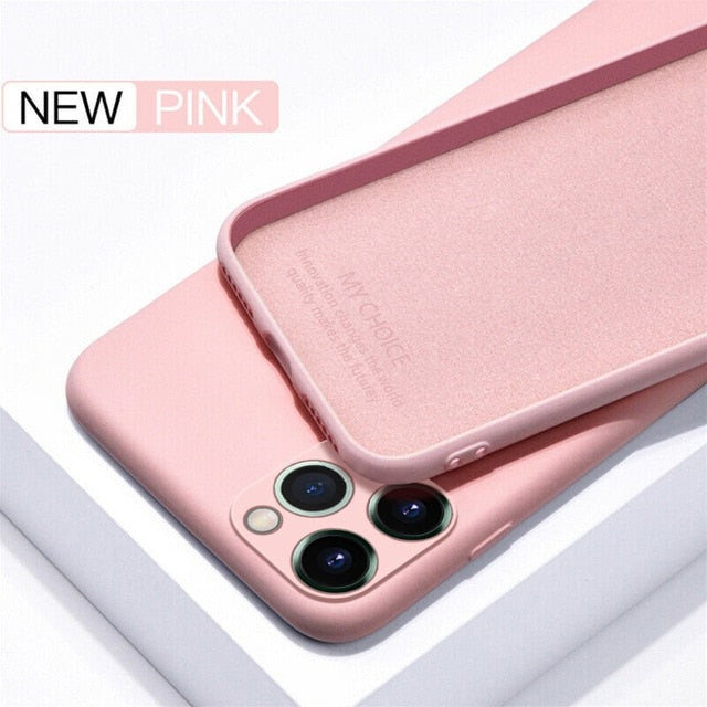 Luxury Original Silicone Full Protection Soft Cover For iPhone
