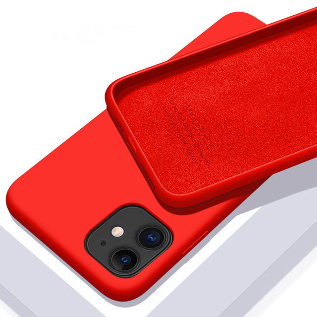 Original Liquid Silicone Luxury Case For Apple iPhone