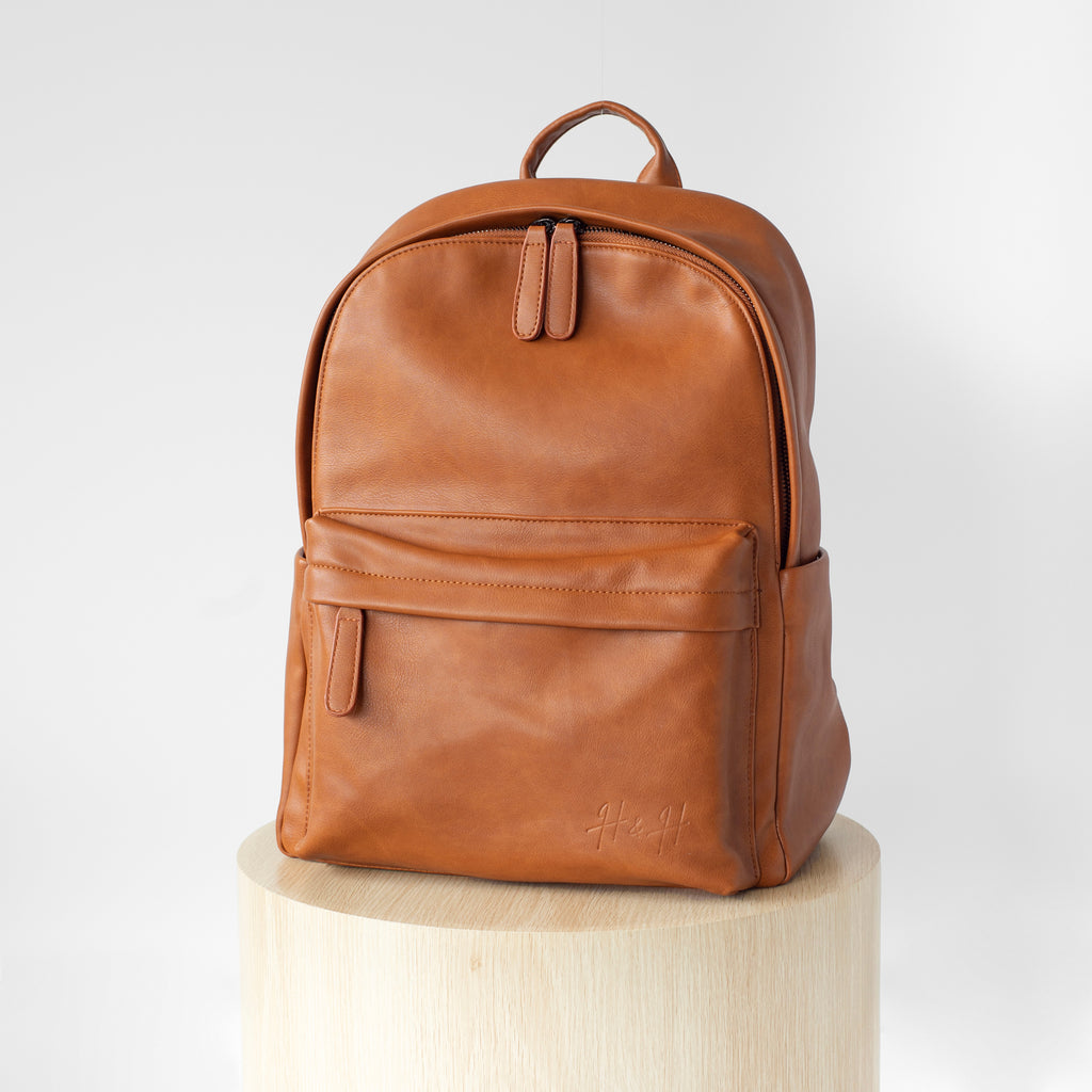 Signature Laptop Backpack (Brown)
