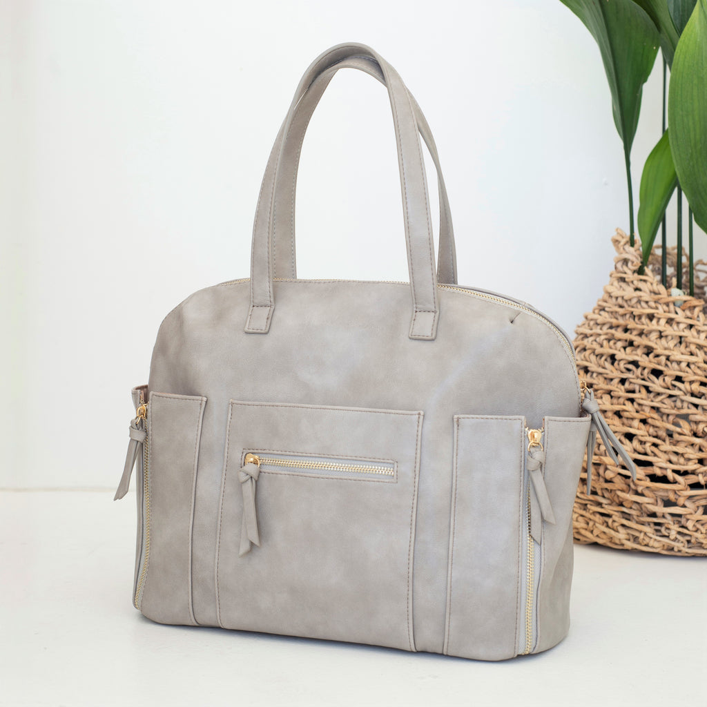 Chelsea Convertible Tote/Backpack Nappy Bag (Grey)