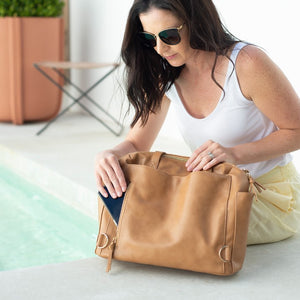 Chelsea Convertible Tote/Backpack Nappy Bag (Tan)