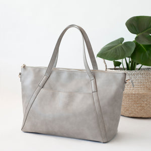 Catherine Carryall Tote/Nappy Bag (Grey)