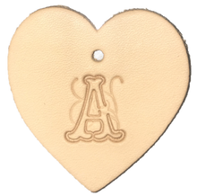 Load image into Gallery viewer, Custom Heart Handcrafted Leather Key Ring