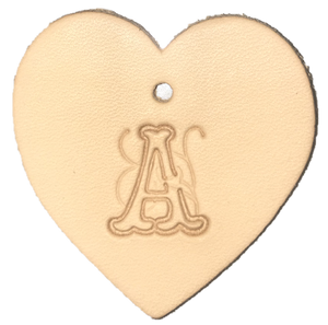 Custom Heart Handcrafted Leather Key Ring