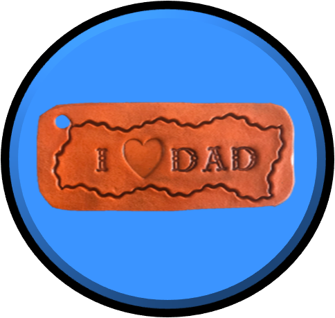 I LOVE DAD - Standard Key Ring handcrafted with LOVE!