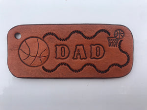 ALL Star Dad - Key Ring for the Ultimate Athlete or Sports Fan!