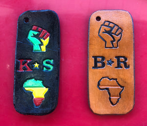 Power Fist - Africa with Initials