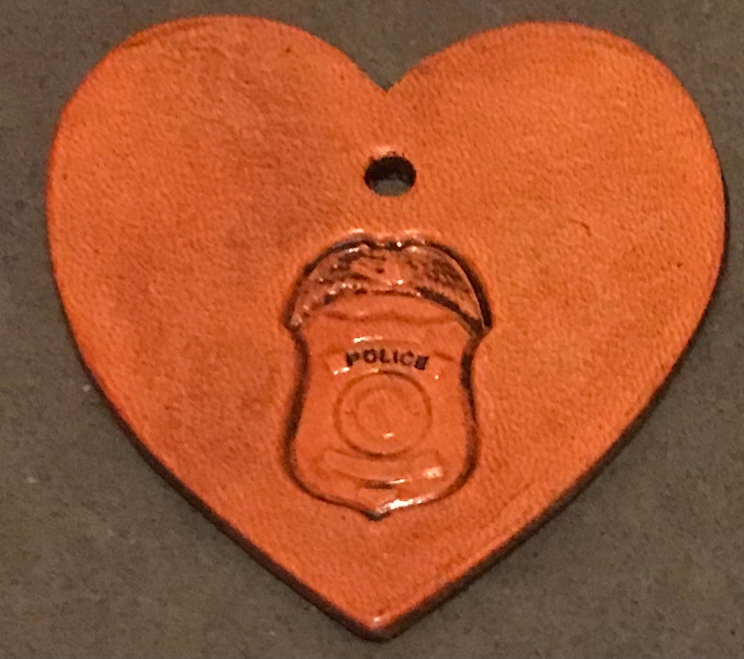 A Heart for OUR Law Enforcement Heroes ❤️ Purse Charm or Mini Key Ring