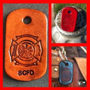 👩‍🚒Dog Tag Key Ring 👩‍🚒or 👩‍🚒Purse Charm👩‍🚒